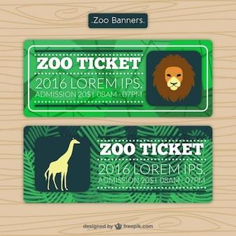 Zoo tickets met leeuw en giraffe