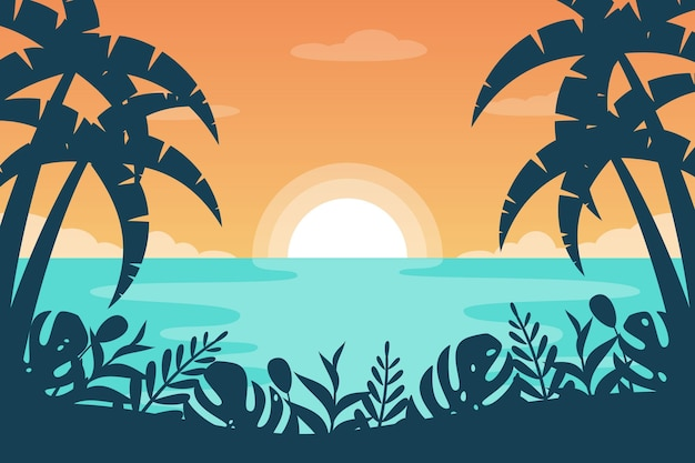 Zoomachtergrond met de zomerlandschap