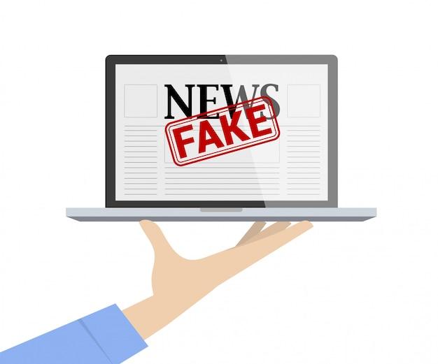 Zorg voor fake news concept.