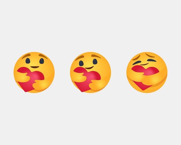 Zorgreacties emoji 2020 populaire sociale netwerken we doen het samen