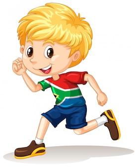 Zuid-afrikaanse jongen loopt