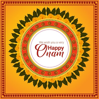 Zuid-indiase festival gelukkige onam viering wenskaart