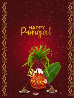 Zuid-indiase festival pongal viering poster