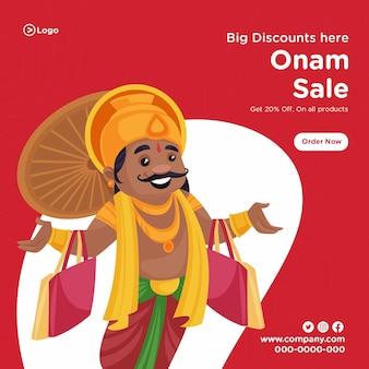 Zuid-indiase onam festival verkoop bannerontwerp