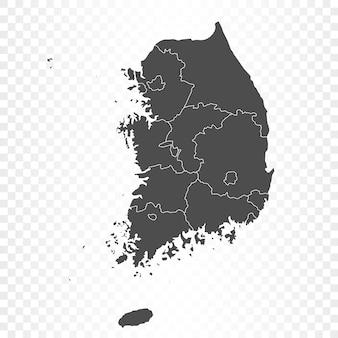 Zuid-korea kaart geïsoleerde weergave