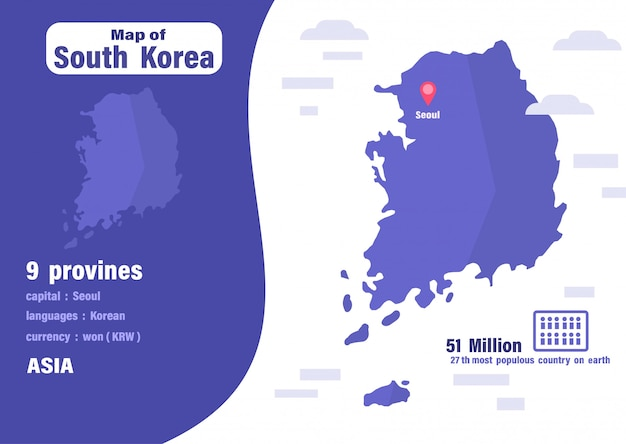 Zuid-korea kaart