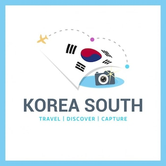 Zuid-korea travel logo