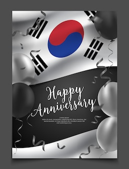 Zuid-korea viering poster