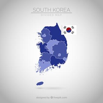 Zuid-koreaanse kaart