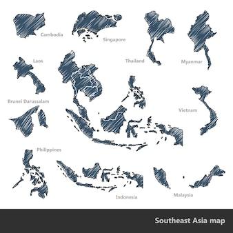 Zuidoost-azië kaart