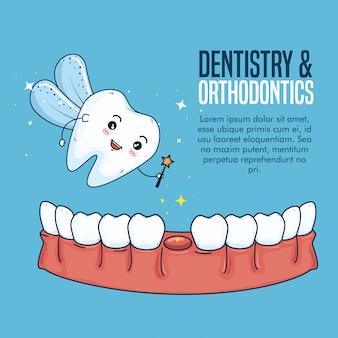 Zuivel tand en tandheelkunde hygiëne behandeling