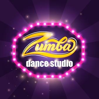 Zumba banner teken. vector illustratie