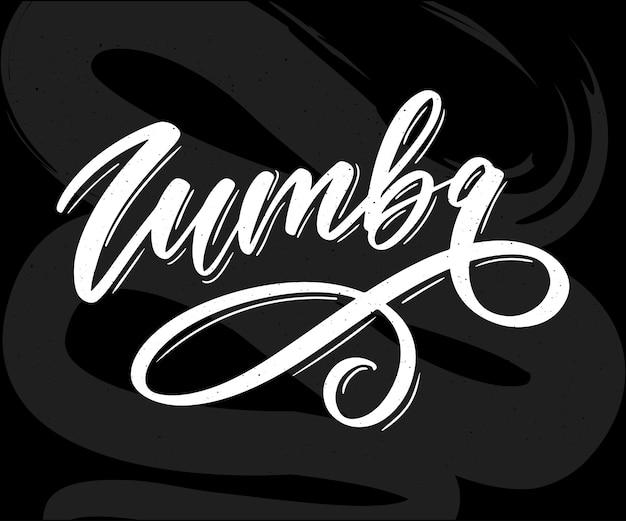 Zumba brief belettering