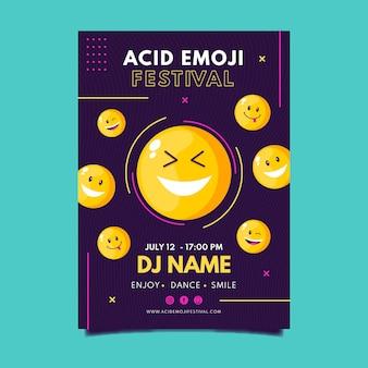 Zure emoji poster sjabloon