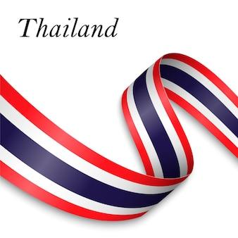 Zwaaiend lint of banner met vlag