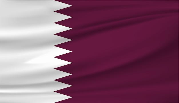 Zwaaiende vlag van qatar