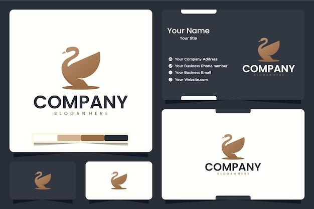 Zwaan, luxe, logo-ontwerpinspiratie