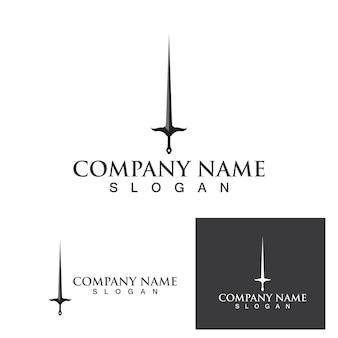 Zwaard logo en symbool vector sjabloon eps10