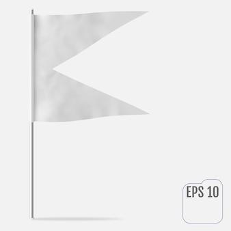Zwaluwstaart of swallowtail horizontale vlag.