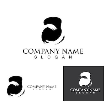 Zwanger logo sjabloon vector pictogram illustratie ontwerp