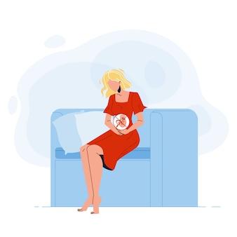 Zwangere jonge vrouw denkt over abortus