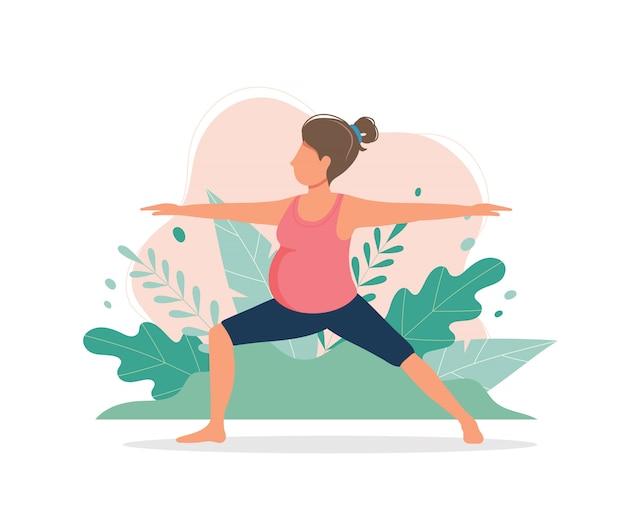 Zwangerschap yoga oefeningen retro cartoon poster | Gratis ...