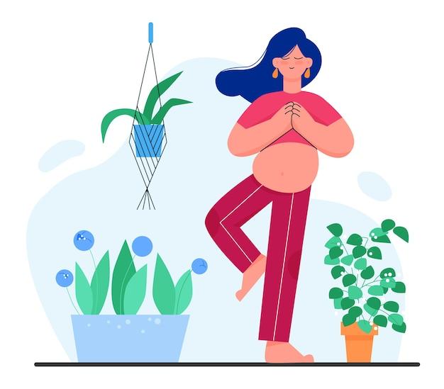 Zwangere vrouw karakter ontspannen