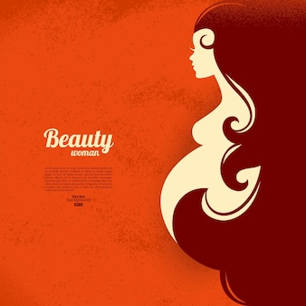 Zwangere vrouw silhouet