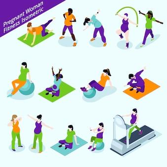 Zwangere vrouwen fitness isometrische set