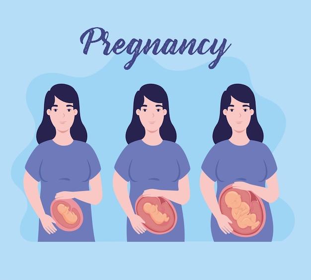 Zwangere vrouwen glimlachen