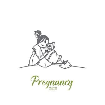 Zwangerschap concept illustratie