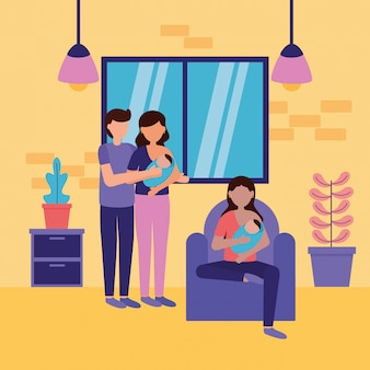 Zwangerschap en kraamscène