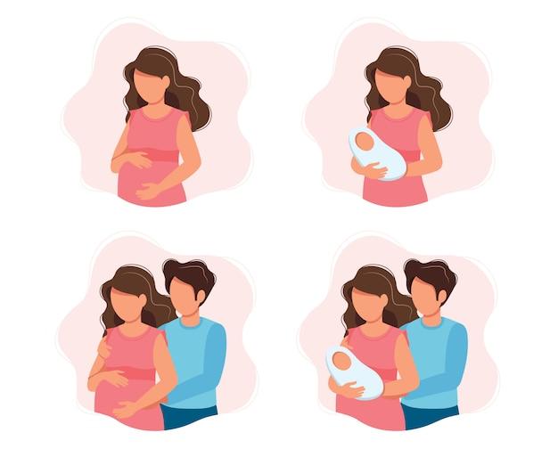 Zwangerschap en ouderschap concept