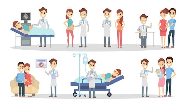 Zwangerschap in de kliniek.
