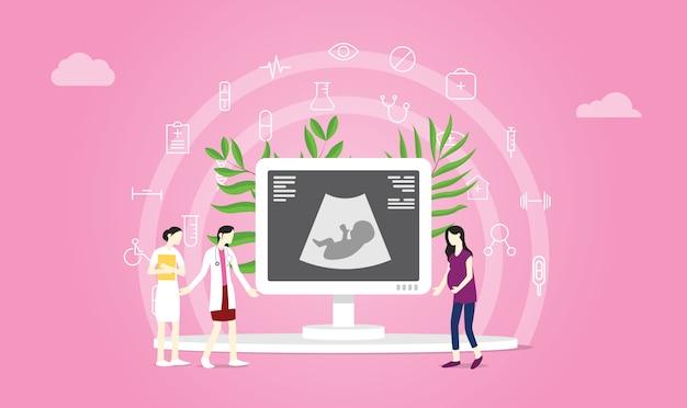 Zwangerschap of zwangerschap concept