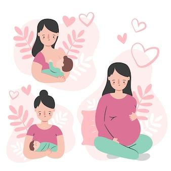 Zwangerschaps- en kraamscènes