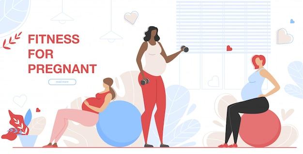 Zwangerschapsgroep fitness class voor zwangere vrouwen