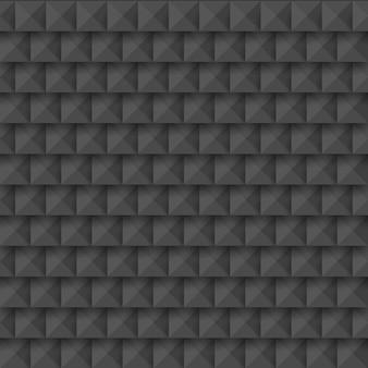 Zwart abstract 3d geometrisch naadloos patroon van vierkanten