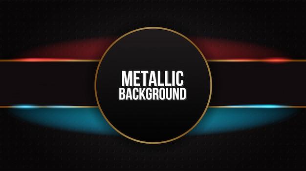 Zwart abstract mat geometrisch rood en blauw elegant futuristisch glanzend rood en blauw als achtergrond