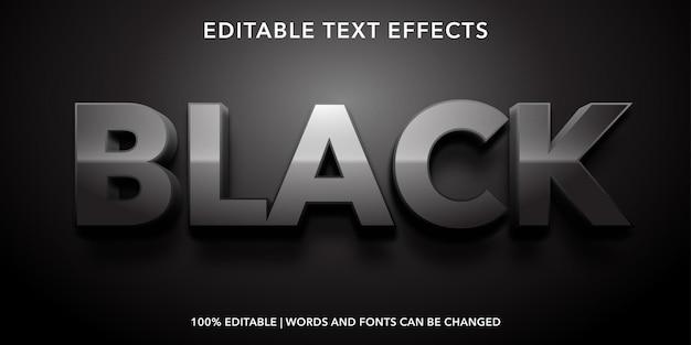 Zwart bewerkbaar teksteffect