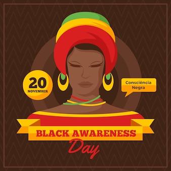 Zwart bewustzijnsdag concept