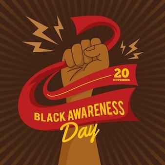 Zwart bewustzijnsdag ontwerp