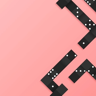 Zwart blokkenkader op lege roze vector als achtergrond