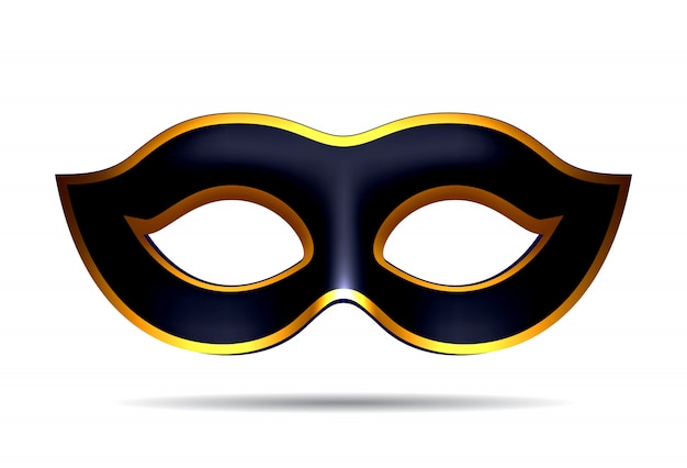 Zwart carnaval masker