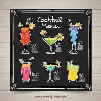 Zwart cocktailmenu
