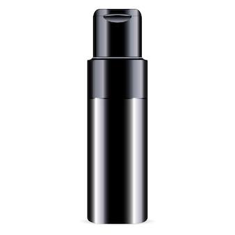 Zwart ð¡conditieflesje cosmetica mockup glanzend