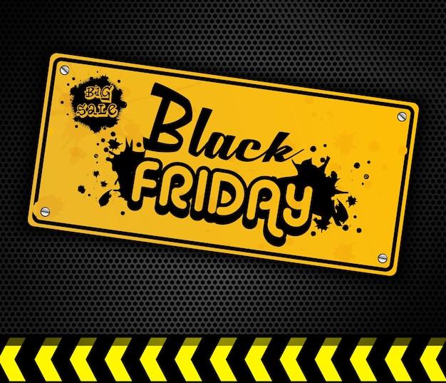 Zwart deurteken van black friday