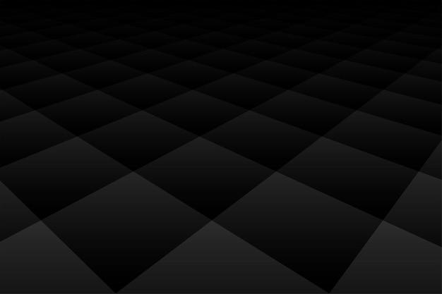 Zwart donker behang als achtergrond met ruitpatroon in perspectief