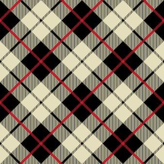 Zwart en beige naadloos diagonaal stoffentextuurpatroon
