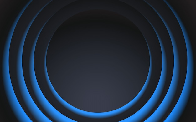 Zwart en blauw cirkelontwerp als achtergrond